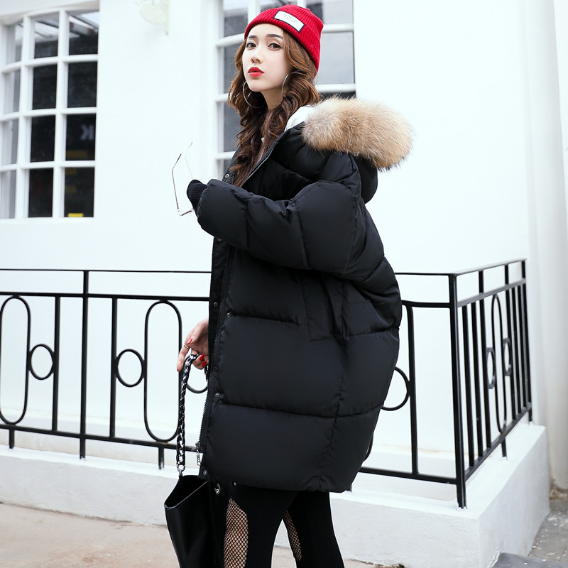 Cockscomb Bat Sleeved Winter Parkas Women Loose Thickening Warm Coat Outerwear Female Cotton Wadded Jackets with Faux Fur Hood winter jacket women cotton padded thickening warm coat women s wadded jackets fur hood snow wear outerwear coats and parkas