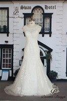 Poemssongs Custom Made Appliques Flowers Style Mermaid Wedding Dresses For Wedding Vestido De Noiva High Quality