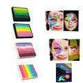 1Pcs Rainbow Body Paint Face Paint Makeup Pigment Multicolor Series Water Based Split Cake Pintura Body Art Tattoo Paint