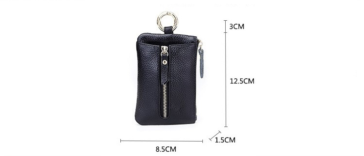 Women genuine leather key wallet 10-0