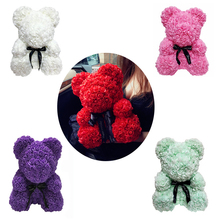 24Cm Foam Bear Of Roses Rose Flower Artificial New Year Gifts For Women Valentines Gift