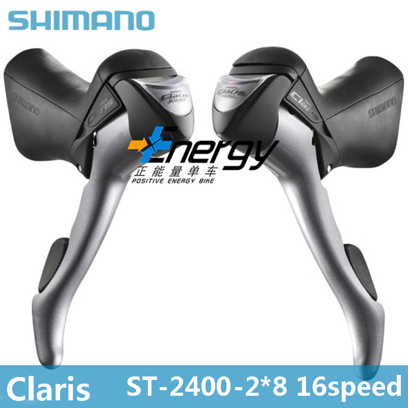 SHIMANO Claris ST-2400 2 x 8 speed brake shift bike double control lever road car derailleur bicycle spare parts  Control handle  shimano acera mountain bike st ef65 shift brake lever 3 8 speed 24s mtb bicycle bike conjoined dip bicycle derailleur
