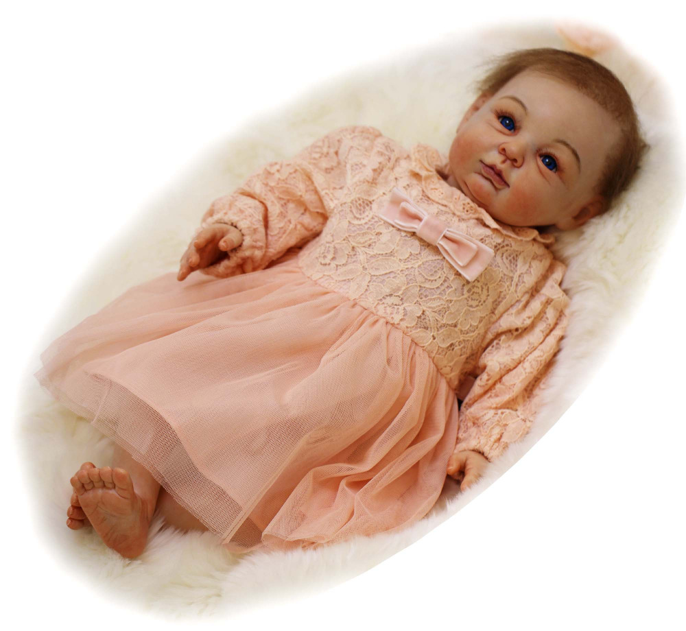 The Artist's Masterpiece Silicone Reborn Baby Doll Toy Lifelike Soft Newborn Girls Babies Doll Best Birthday Gift Play House Toy soft silica gel doll 57cm reborn baby appease doll lifelike babies play play house toy for children s christmas birthday gift
