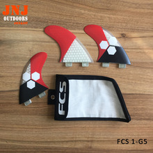 newest high quality surfboard FCS fins G5 surf fins (Tri-set) made by honeycomb with fcs bags