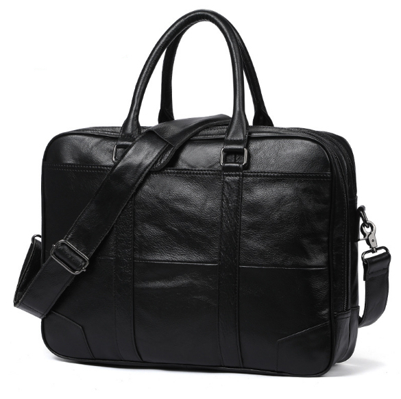 Men' shoulder  Casual Genuine Leather Business handBags Briefcase,male for 14 or 15.6 inches laptop Messenger Bags Briefcases Men's Backpacks