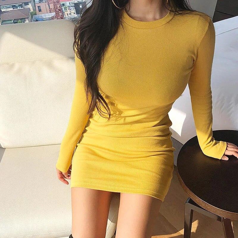 Mode femmes tempérament doux de base vintage sexy robe nouveauté tempérament plein d'entrain chaud confortable élégant doux mini robe