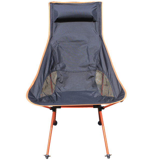 Portable Light weight Folding Camping Stool Four Feet Chair Seat For Fishing Festival Picnic BBQ Beach With Bag Orange