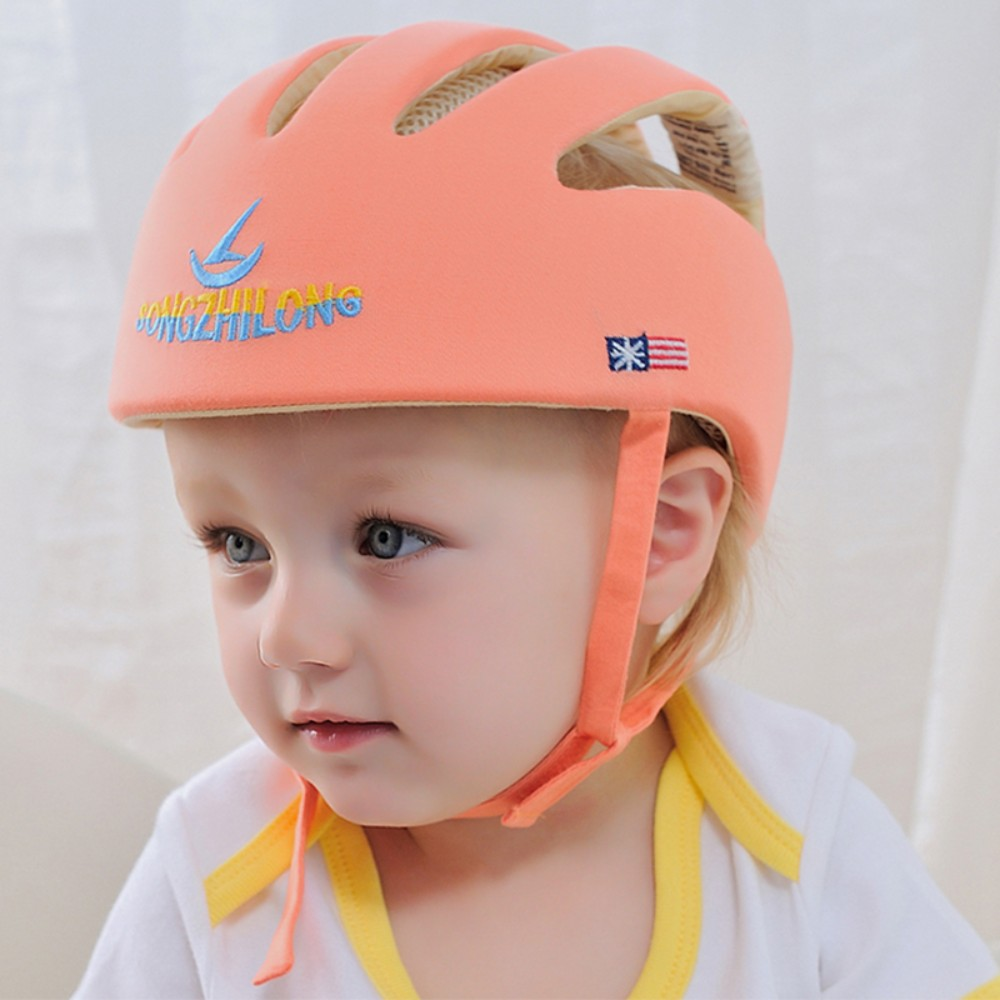 Blue Qiorange Infant Baby Toddler Safety Helmet Kids Head Protection Hat for Walking Crawling baby Children Infant Adjustable Safety Helmet Head guard Protective Harnesses Cap