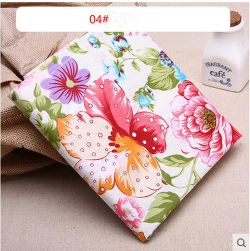 1 mètre 100% coton tissu uni avec coloré fleur imprimer, vêtements de bébé,  literie, enfants de pur coton tissu CR-762-4 1f6a5151cea