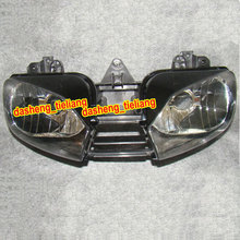 Motorcycle Front Headlight for Yamaha YZF R6 1999 2000 2001 2002, Motorbike Head lamp, Black Color