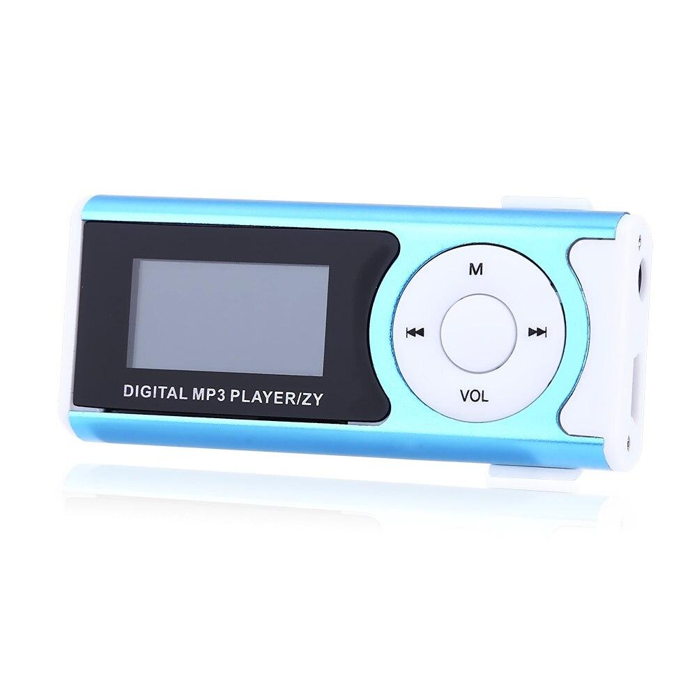 New Shiny Mini USB Clip LCD Screen MP3 Music Player Support 16GB Micro SD Music MP3 Player Mini USB (Only Mp3+USB)