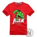 T-Shirt Dos Homens do Menino Camiseta Marvel Os Vingadores Filme Hulk Tshirt Roupas de Super Herói The Incredible Hulk Tee