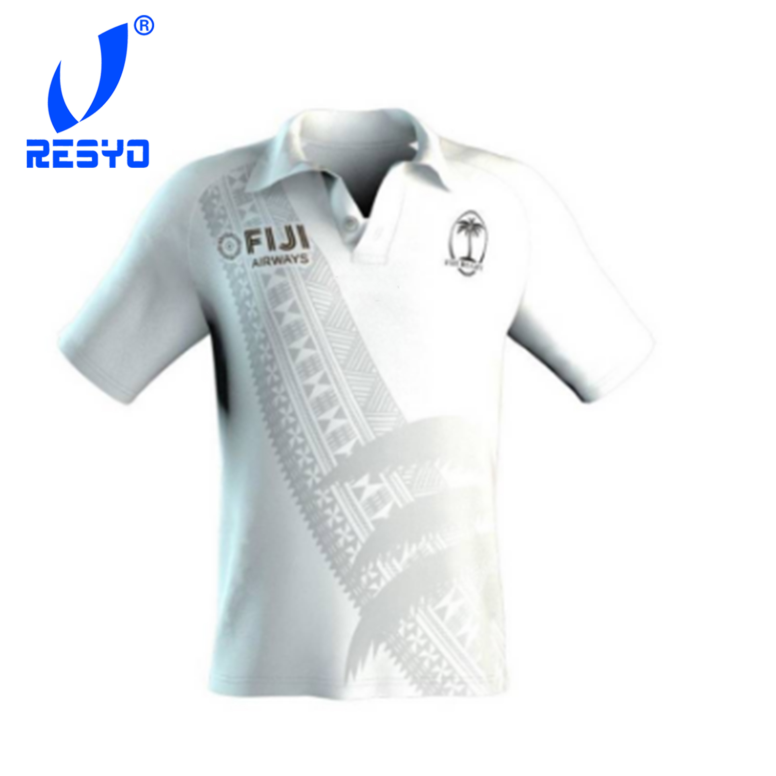 RESYO For 2019 Fiji Men's Original Seven's Rugby Jersey 7's Polos Shirt Size:S-3XL Free Shipping