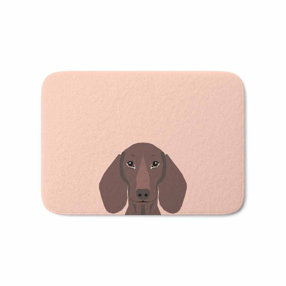 Remy - Daschund Hipster Dog, Doxie, Weiner Dog, Wiener Dog, Bath Mat Mats Welcome Home Entrance Door Floor Flannel Rug