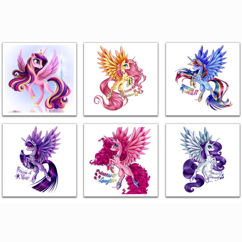 Princess Pony Diamantmaleri Cross Stitch Diamond Broderi 5D Diy - Kunst, håndverk og sying