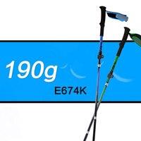 ROBESBON 180g Ultralight Walking Stick Folding Collapsible Trekking Poles Hiking Travel Staffs With EVA Foam Grip Hiking Camping
