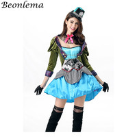 Beonlema Sexy Women Flight Ettendant Cosplay Costumes Ladies Stewardess Adult Role Playing Dress Long Sleeve Patchwork Clothes
