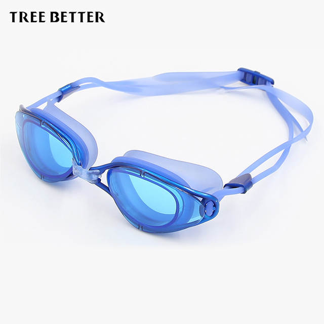943983fa02 placeholder Swimming glasses waterproof anti-fog Coating Large box Swim  goggles Water sports spectacles Women Men