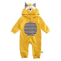 Lemonmiyu Cotton Cartoon Baby Rompers Toddler Pajamas Zipper Newborn Long Sleeve Cute Outfits Animal Lion One