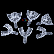 High Quality 3 Pairs Transparent Dental Materials Disposable Plastic Impression Tray Denture cheap Teeth Whitening Transparent Impression Tray Moderate 120g