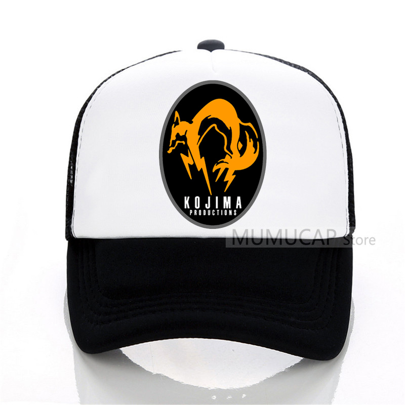 d4696efa2d1 Black Metal Gear Solid MGS FOX HOUND Baseball Caps Special Force ...