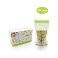 HOT 112PCS 235ml Baby Breast Milk Storage Bags Milk Freezer Bags Baby Food Storage Baby Breastmilk Feeding Safe Breast Milk Bags