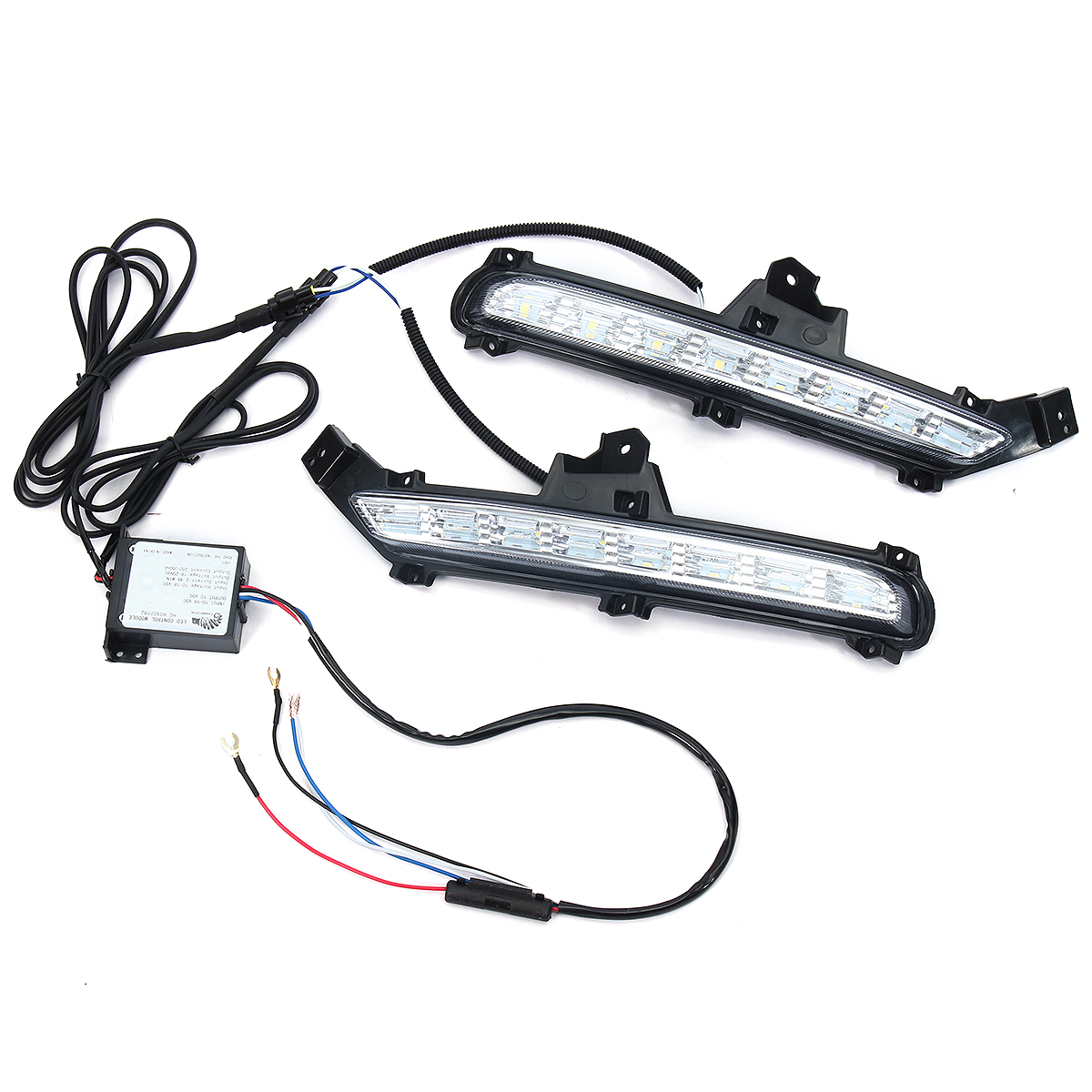 1 Pair Car LED Daytime Running Lights 6000K DRL led Car light Front Fog Lamp 12V for KIA RIO K2 2015- 2017 цены