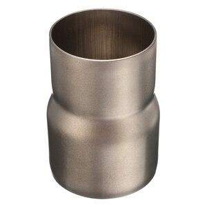 Image 3 - 1 Pcs 스테인레스 스틸 오토바이 배기 튜브 어댑터 감속기 60 ~ 51mm 3.31 인치 길이 오토바이 배기 파이프 액세서리