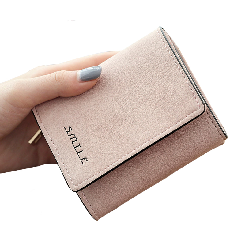 Women Purses Leather Wallets Female Coin Purse Lady Clutch Card Photo Holder Hasp Zipper Printing Short Solid Cute Women Wallet 2016 sep women wallets zipper short purse clutch coin bag cat wallet women card holder purses carteiras brand women bag