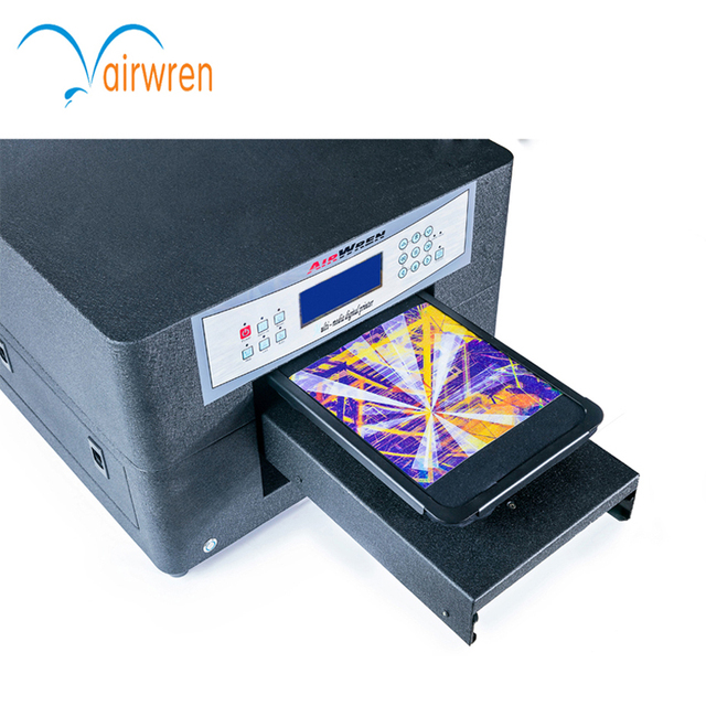 US $1490 0 |Small fabric printing machine price 6 color A4 size HAIWN T400  t shirt printer for sale-in Printers from Computer & Office on