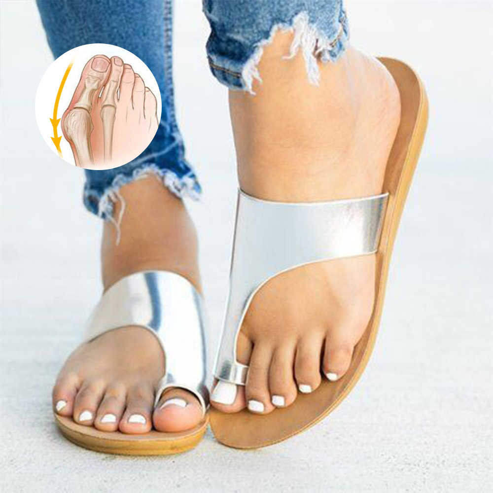 Bunion-Shoes Slippers Female Orthopedic Outdoor Casual Home Beach Flat with for Concise