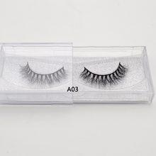 Visofree Valse wimpers handgemaakte natuurlijke make up 1 paar valse wimpers sexy Extension voor Makeup 3D Mink Wimpers A03