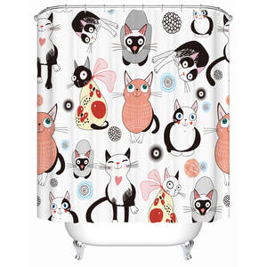 Seacloud Cats Bathroom Shower Curtain Bath Accessory