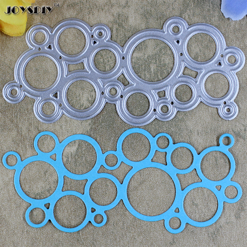 Bubbles Circles die cut  cutting Stencil Metal Dies Handmade Scrap booking Cards