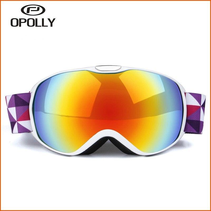 2018 новые детские Лыжный Спорт Очки УФ-защита очки для детей двойной Слои лыжный открытый оборудования катание тактические очки
