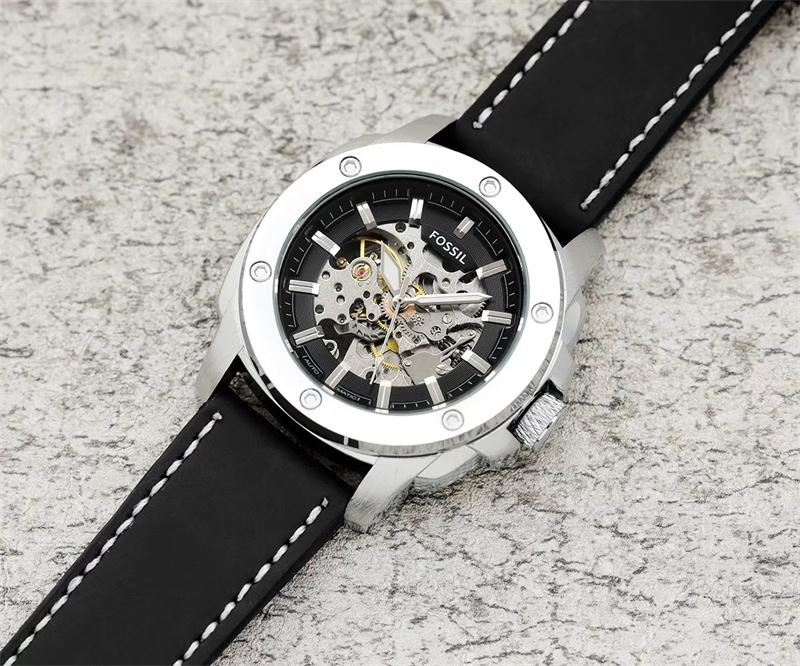 FOSSIL mens watches automatic watch famous brand fashion calendar 43mm face waterproof mechanical watch good quality