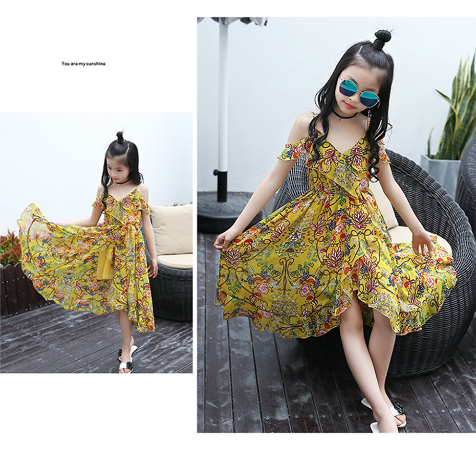HTB1U8YeaXTM8KJjSZFlq6yO8FXaM - Girls Dress Bohemia Style Dresses Girls Sleeveless Floral Dress For Adolescents 8 10 12 Big Kids Girls Clothes