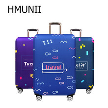 HMUNII Suitcase Travel Luggage Cover Elastic Dust Trolley Protection Cover Comfort And High Quality Fashion Travel Accessories(China)