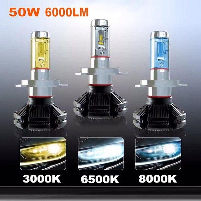 High Brightness Car Headlights H7 Led H4 H8 H11 Hb3 9005 Hb4 9006