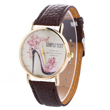 Fashion Women's Quartz Wristwatch Leather Women's Bracelet Watches Lover's Dress Watch Reloj Mujer High Heels Relogio Feminino