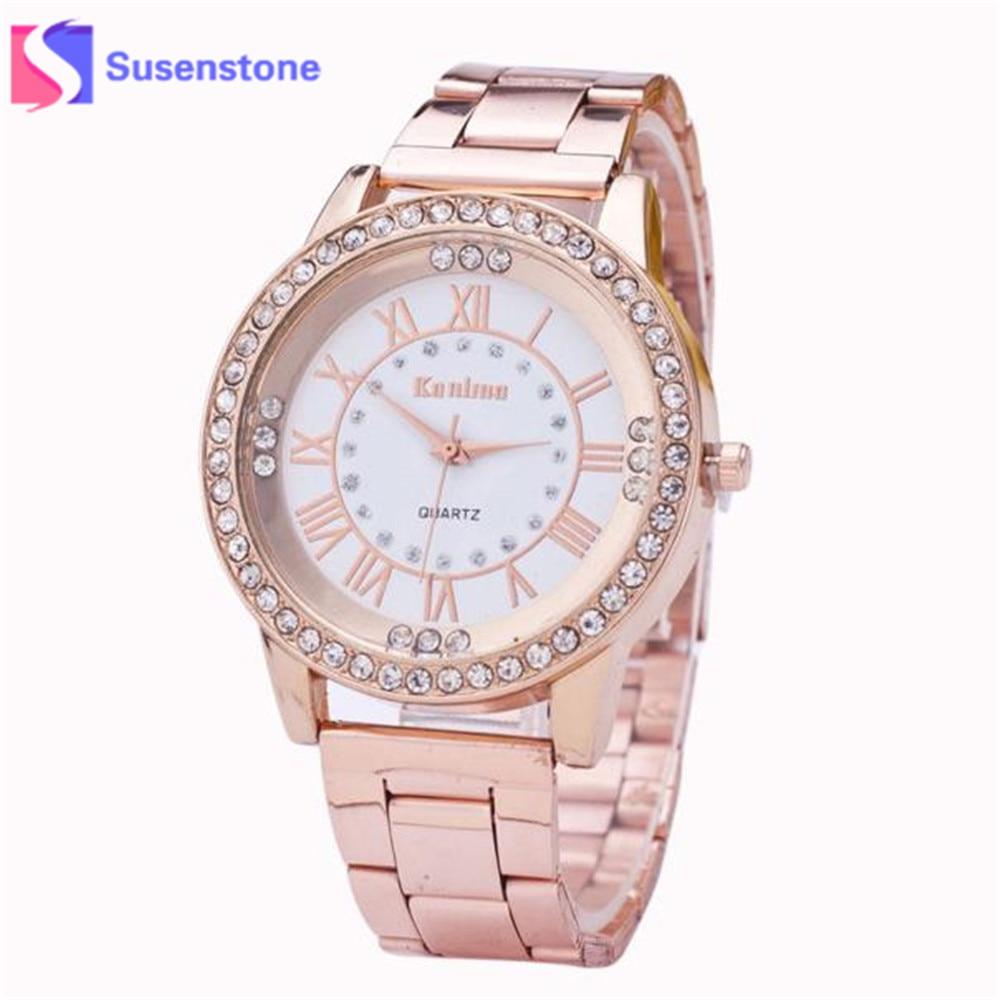 Women Luxury Elegant Watch Ladies Crystal Rhinestone Stainless Steel Golden Silver Analog Quartz Wrist Watch Relogio Feminino