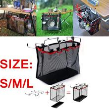 Outdoor Picnic Camping Wire Bracket Desk Hanging Mesh Net Bag BBQ Tools Pouch Organizer box for Camping Outdoor Tool