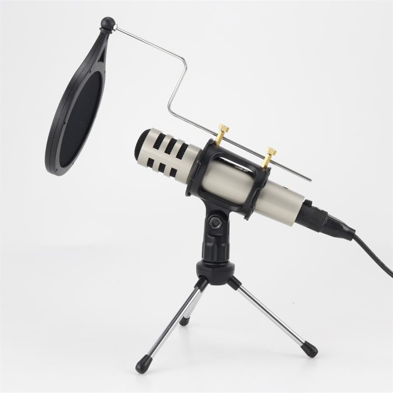Condenser microphone mobile phone computer voice webcast with bracket recording broadcast mic Microphone