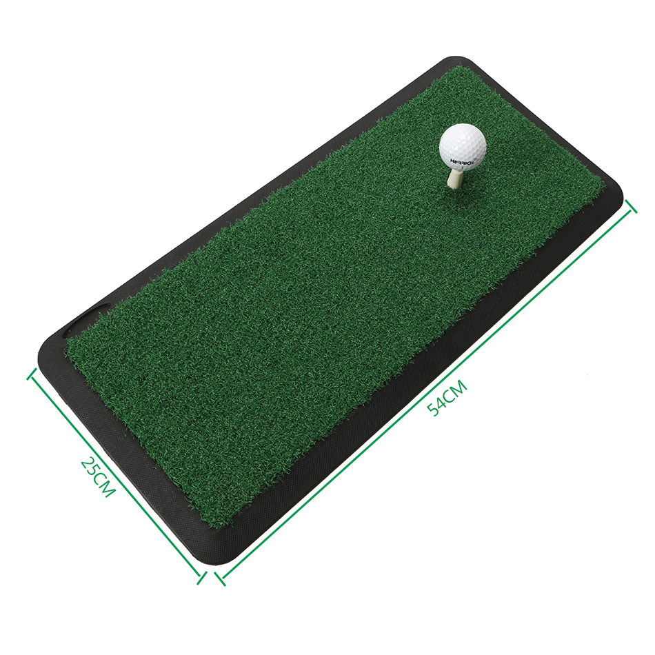 Golf Training Mat Indoor outdoo Swing Trainer Mat Practice Hitting Pad Tee Holder Golf Training Aids Equipment free shipping golf putting mat mini golf putting trainer with automatic ball return indoor artificial grass carpet