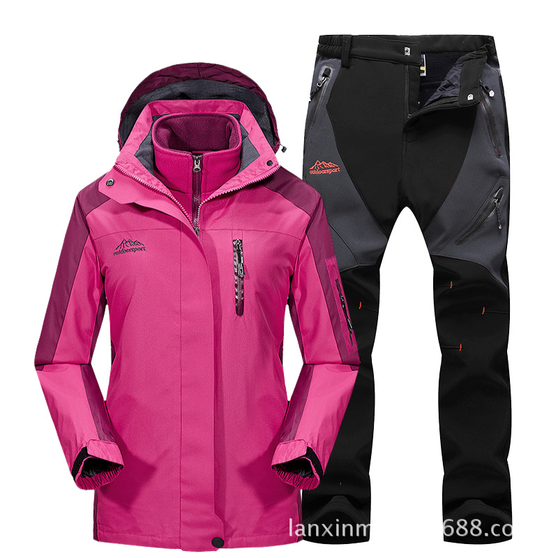 Ski Suit For Men 2018 Winter New Breathable Waterproof Windproof Thicken Snowboard Set Snow Jacket And Pants Boys