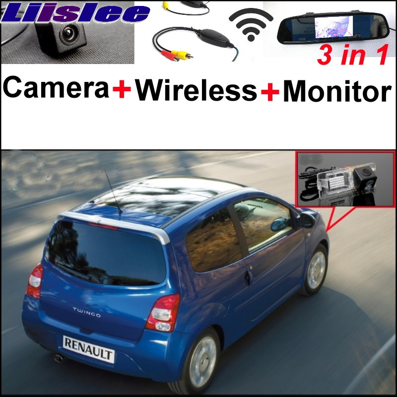 Liislee 3 in1 Special Camera + Wireless Receiver + Mirror Monitor Easy Back Up Parking System For Renault Twingo 2 II 2007~2014