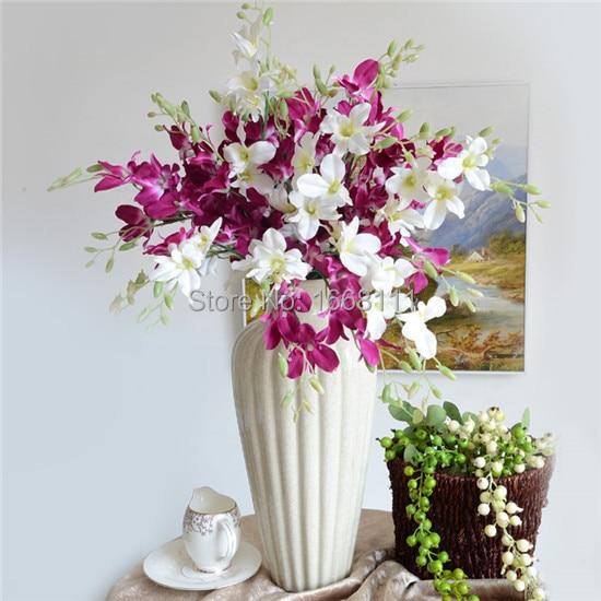 Orquídeas artificiais Chão Montado Phalaenopsis Borboleta Moth Orquídea Cattleya Casamento para Flor Decorativa de Casamento