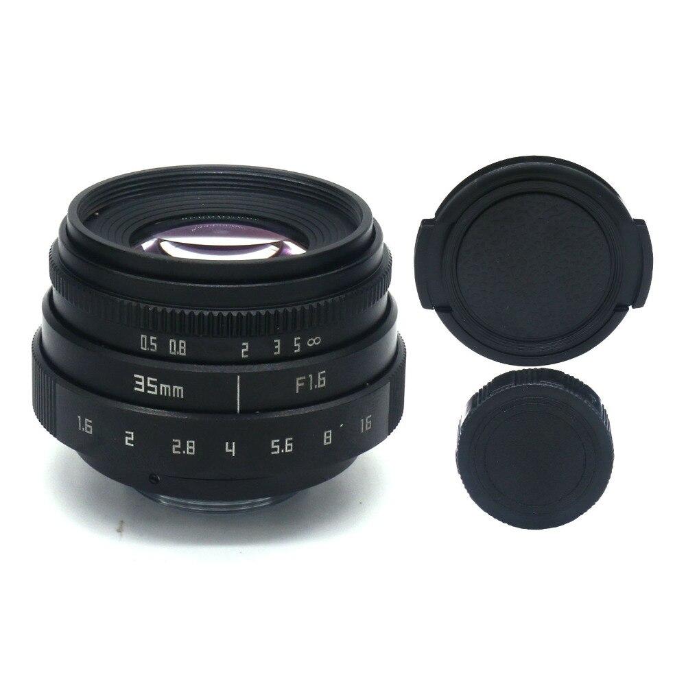 Nouveau arrivent fujian 35mm f1.6 monture C caméra CCTV Objectif II pour N1 Fujifilm Fuji NEX Micro 4/3 EOSM livraison gratuite