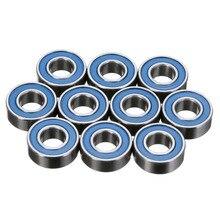 10Pcs Miniature MR115RS Deep Groove Ball Bearing Blue Rubber Sealed Wheel Hub Ball Steel Bearings 5*11*4mm Mayitr все цены