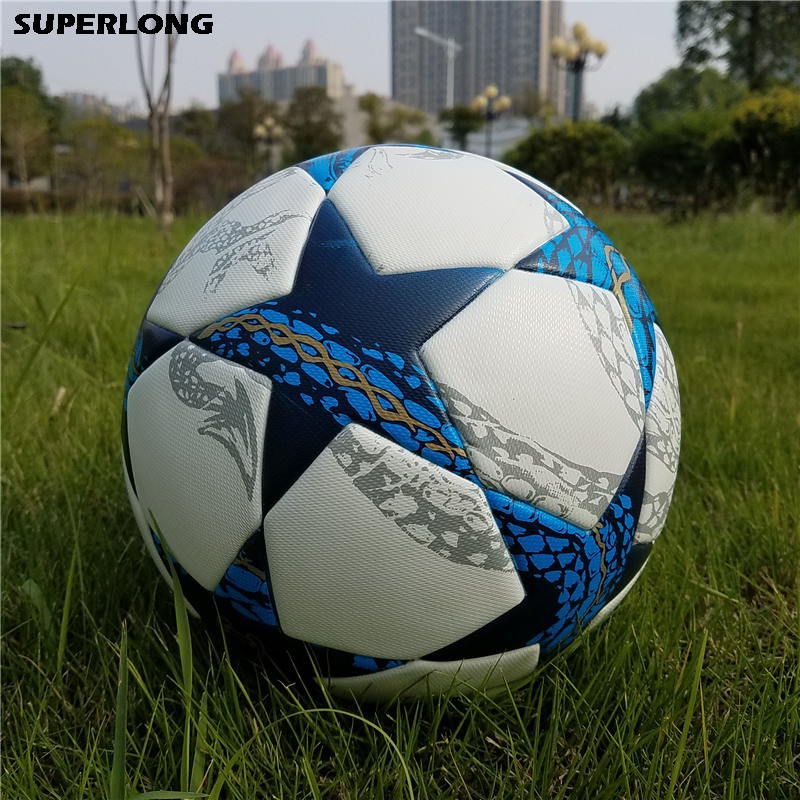 2018 High Quality Champion League size 5 Football ball Seamless PU Soccer Ball soccer equipment training